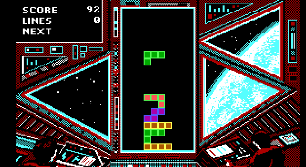 Tetris online MS-DOS version