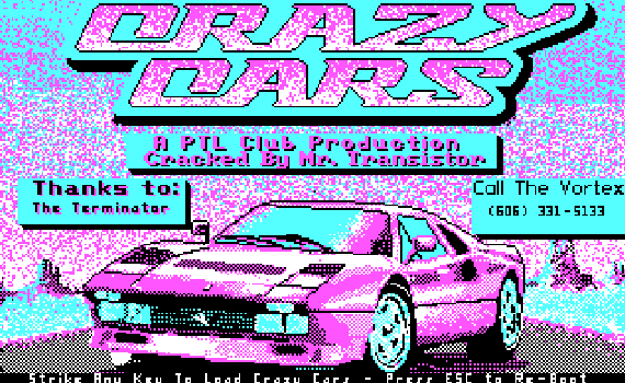 Crazy Cars online playable DOS game