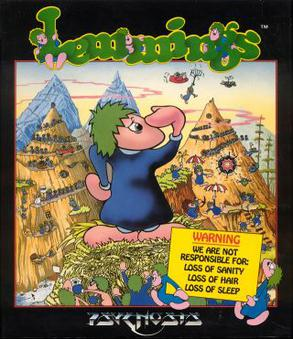 Lemmings online DOS game